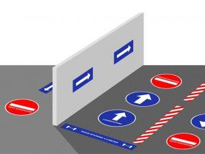 Vloer/muur stickers en pictogrammen